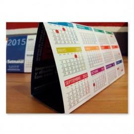 Calendario de sobremesa - 11 x 22 cm.